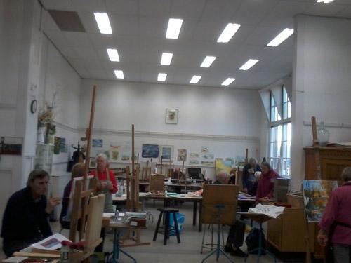 Atelier maandagmorgen, o.l.v. Martin Heijnen